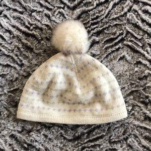 Janie & Jack girls winter hat, 6-12 months.